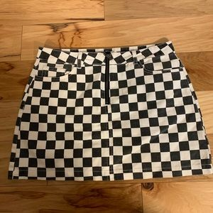 BDG by Urban outfitters denim checked miniskirt. L